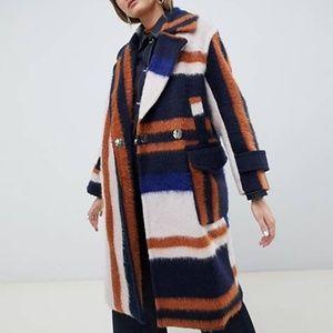 ASOS patchwork coat